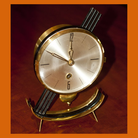 French Faiance Wall Clock 1890s